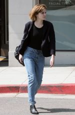 EMMA WATSON Leaves a Spa in Hollywood 04/12/2016