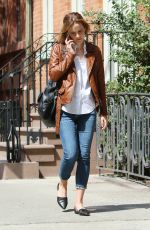EMMA WATSON Out and About in West Village 04/25/2016