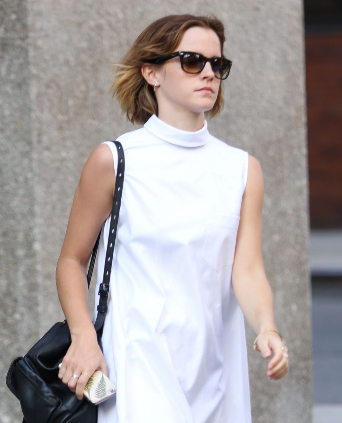 EMMA WATSON Out Shopping in New York 04/23/2016
