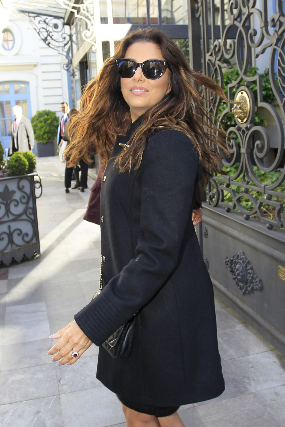 EVA LONGORIA Out and About in Madrid 04*01/2016