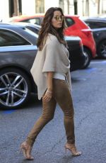 EVA LONGORIA Out Shopping in Madrid 04/02/2016