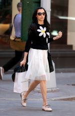 FAMKE JANSSEN Out Shopping in New York 04/24/2016