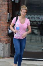 GEMMA ATKINSON Leaves Key 103 Radio in Manchester 04/26/2016