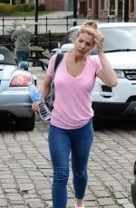 GEMMA ATKINSON Leaves Key 103 Radio in Manchester 04/26/2016