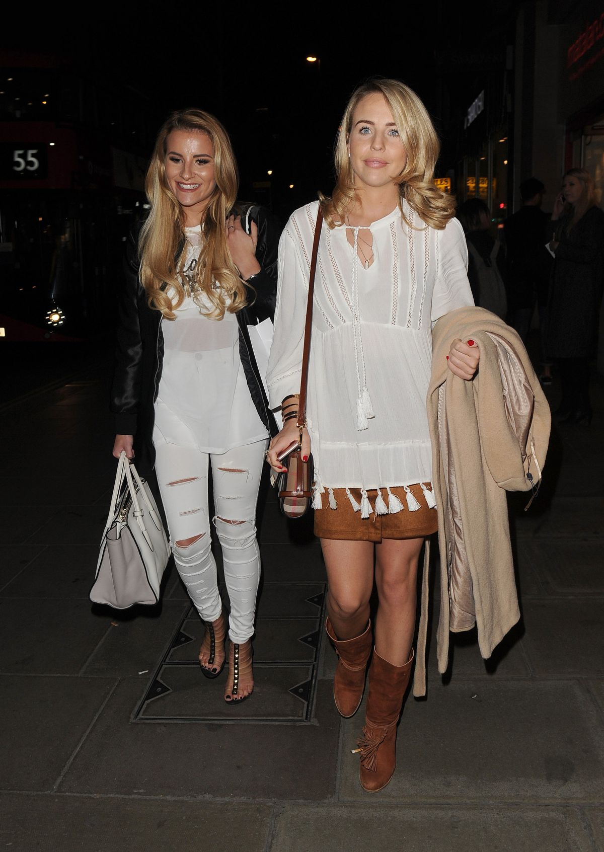 GEORGIA KOUSOULOU and LYDIA BRIGHT Night Out in London 03/17/2016
