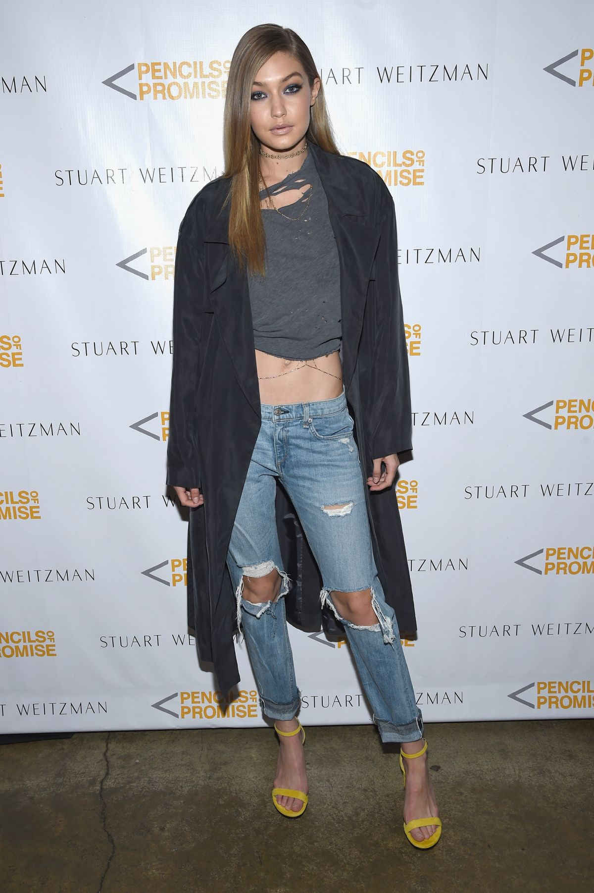 GIGI HADID at Stuart Weitzman Luncheon in New York 04/11/2016