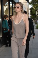 GIGI HADID Out and About in New York 04/28/2016