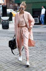 GIGI HADID Out in New York 04/11/2016