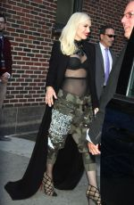 GWEN STEFANI Leaves Late Show with Stephen Colbert in New York 04/01/2016