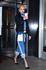GWEN STEFANI Out and About in New York 03/31/2016
