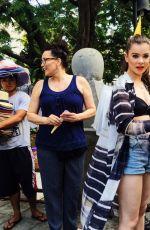 HAILEE STEINFELD Out in Manila 04/09/2016