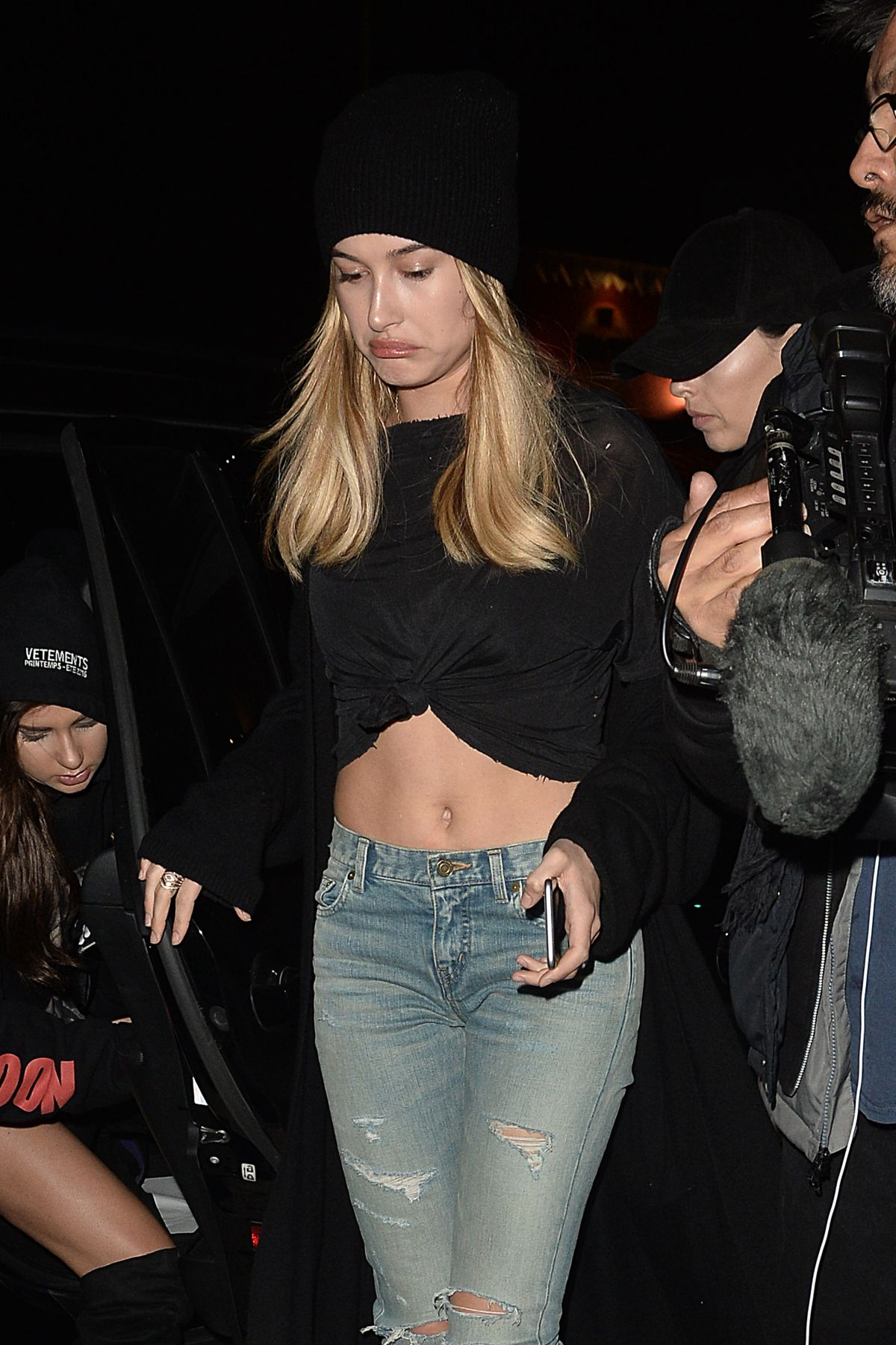 HAILEY BALDWIN at Nice Guy in Los Angeles 04/05/2016