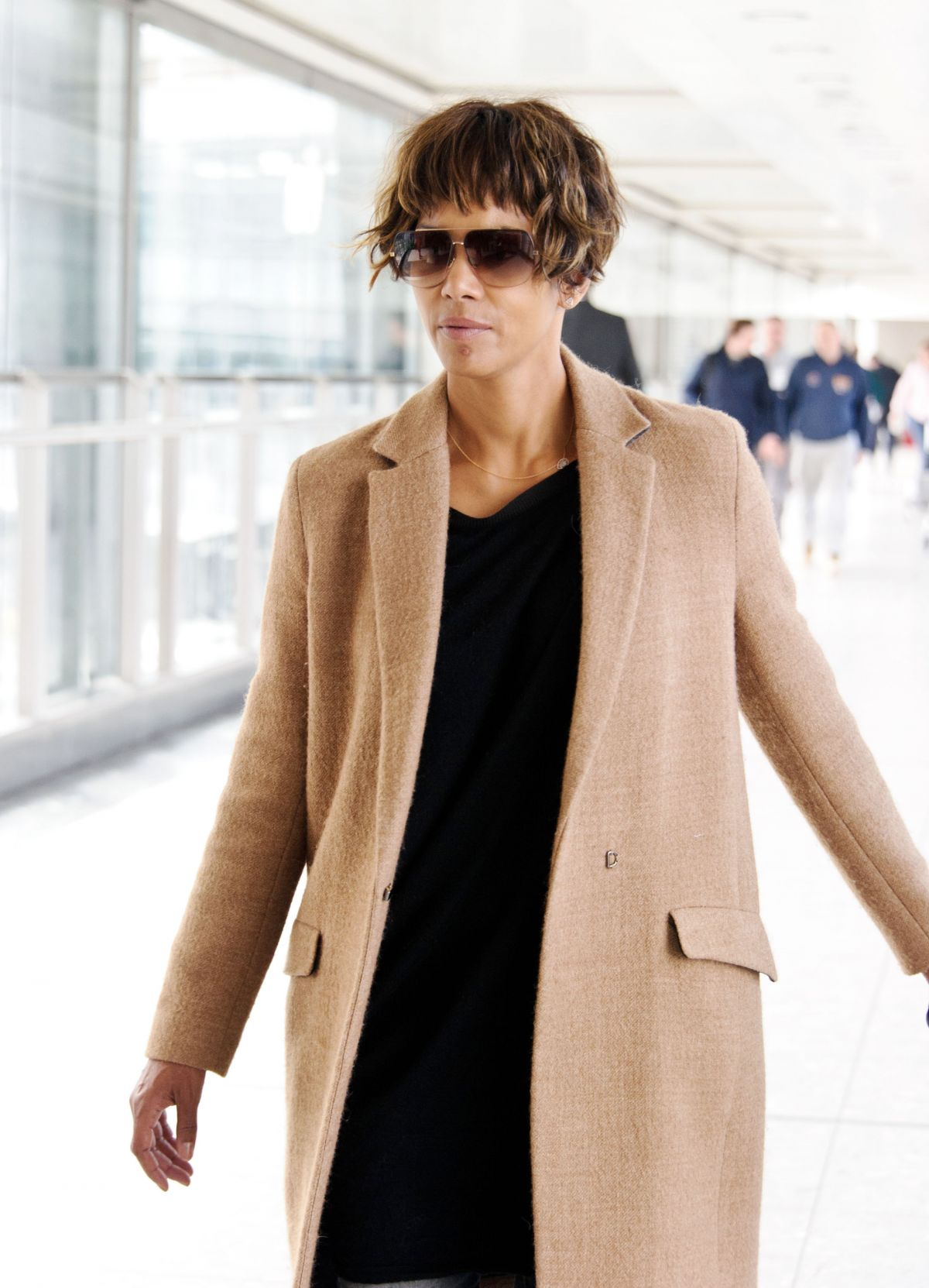HALLE BERRY at Heathrow Airport in London 04/25/2016