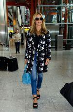 HEIDI KLUM at Heathrow Airport in London 04/23/2016