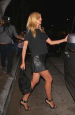 HEIDI KLUM Leaves Madeo Restaurant in West Hollywood 04/18/2016