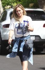HILARY DUFF at a Gym in Los Angeles 04/06/2016