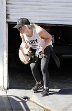 HILARY DUFF at a Gym in West Hollywood 04/20/2016