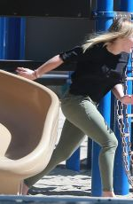 HILARY DUFF at a Park in Studio City 04/20/2016