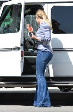 HILARY DUFF Enjoys a Wweet Treat Out in Los Angeles 04/14/2016