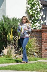 HILARY DUFF in Jeans Out in Beverly Hills 04/04/2016