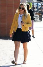 HILARY DUFF in Short Skirt Out in Beverly Hills 04/21/2016