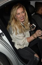 HILARY DUFF Leaves Nice Guy in West Hollywood 04/08/2016