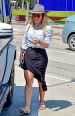 HILARY DUFF Out and About in West Hollywood 04/13/2016