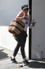 HILARY DUFF Out in West Hollywood 04/20/2016