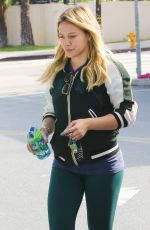 HILARY DUFF Out Shopping at Bristol Farms in Beverly Hills 04/10/2016