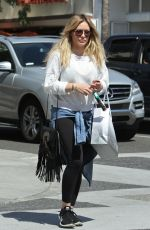 HILARY DUFF Out Shopping at Intermix in Beverly Hills 04/01/2016
