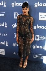 KEKE PALMER at 2016 Glaad Media Awards in Beverly Hills 04/02/2016