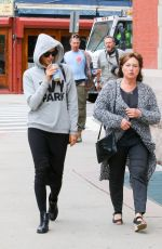 IRINA SHAYK and Her Mother Out in New York 04/27/2016