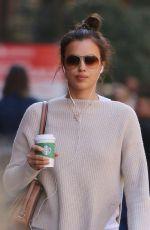IRINA SHAYK Leaves Starbucks in New York 04/20/2016