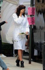 IRINA SHAYK on the Set of a Photoshoot in New York 04/25/2016