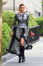 IRINA SHAYK on the Set of a Photoshoot in New York 04/26/2016