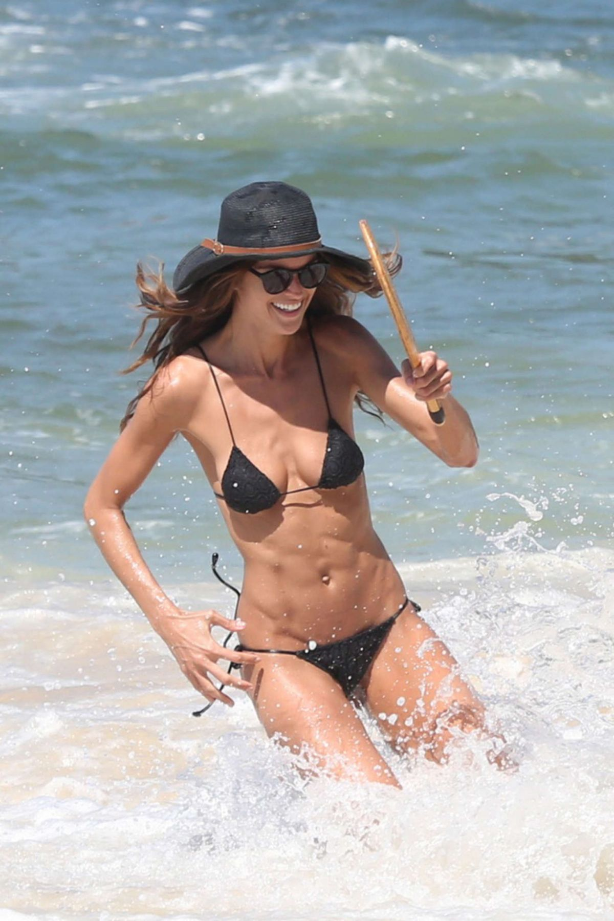 IZABEL GOULART in Bikini on the Beach in Rio  04/09/2016