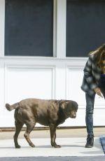 JANICE DICKINSON Walks Her Dog at Beverly Glen Mall 04/26/2016