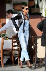 JASMINE TOOKES at Il Pastaio in Beverly Hills 03/30/2016