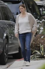 JENNIFER GARNER Out and About in Brentwood 04/22/2016