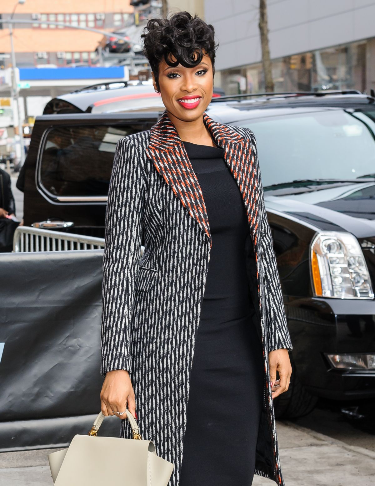 JENNIFER HUDSON Arrives at Daily Show with Trevor Noah in New York 04/11/2016