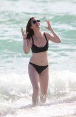 JESS GLYNNE in Bikini at a Beach in Miami 01/02/2016