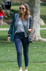 JESSICA ALBA at Coldwater Canyon Park in Beverly Hills 04/03/2016