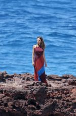 JESSICA ALBA in Swimsuit on the Set of a Photoshoot in Hawaii 04/24/2016