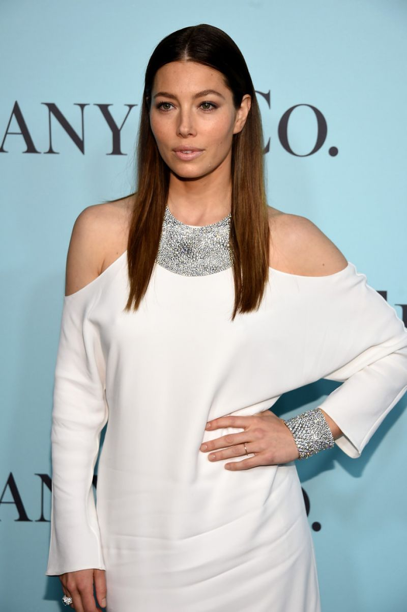 JESSICA BIEL at Tiffany & Co. Blue Book Gala in New York 04/15/2016 ... Jessica Biel