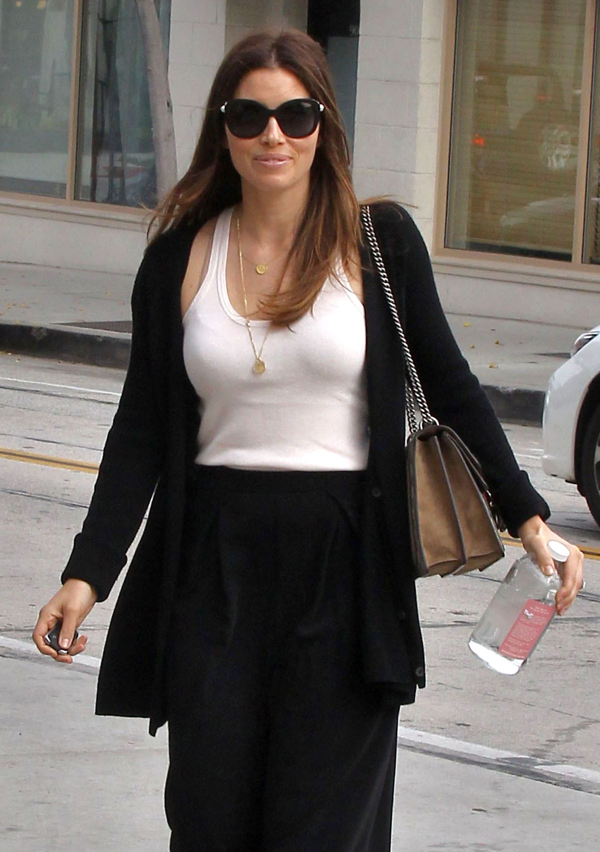 JESSICA BIEL Out and About in Los Angeles 04/06/2016