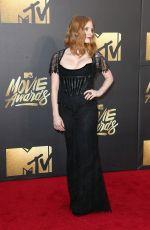 JESSICA CHASTAIN at 2016 MTV Movie Awards in Burbank 04/09/2016