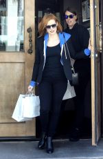 JESSICA CHASTAIN Out and About in West Hollywood 04/21/2016