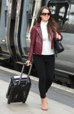 KAREN DANCZUK at Piccadilly Train Station in Manchester 04/28/2016