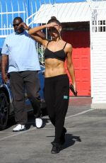 KARINA SMIRNOFF in Tank Top at Dancing with the Stars Rehersal in Hollywood  04/20/2016