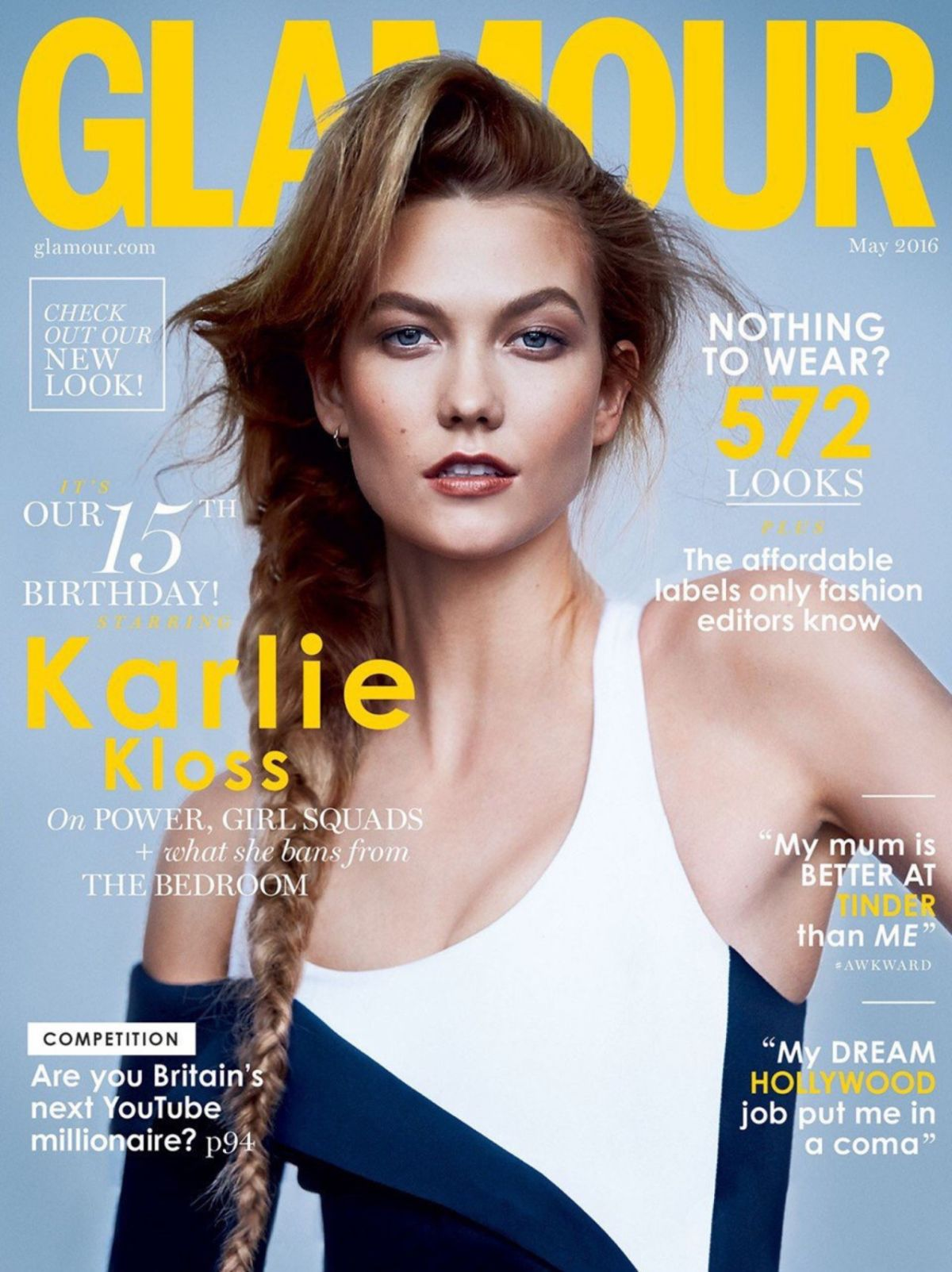 KARLIE KLOSS in Glamout Magazine, May 2016 Issue
